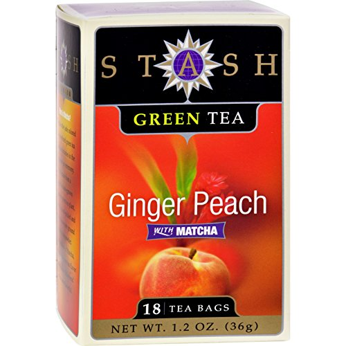 Stash Tea Green Tea, Ginger Peach with Matcha, 18 bags (1.2 (Ginger Peach Decaf Tea)