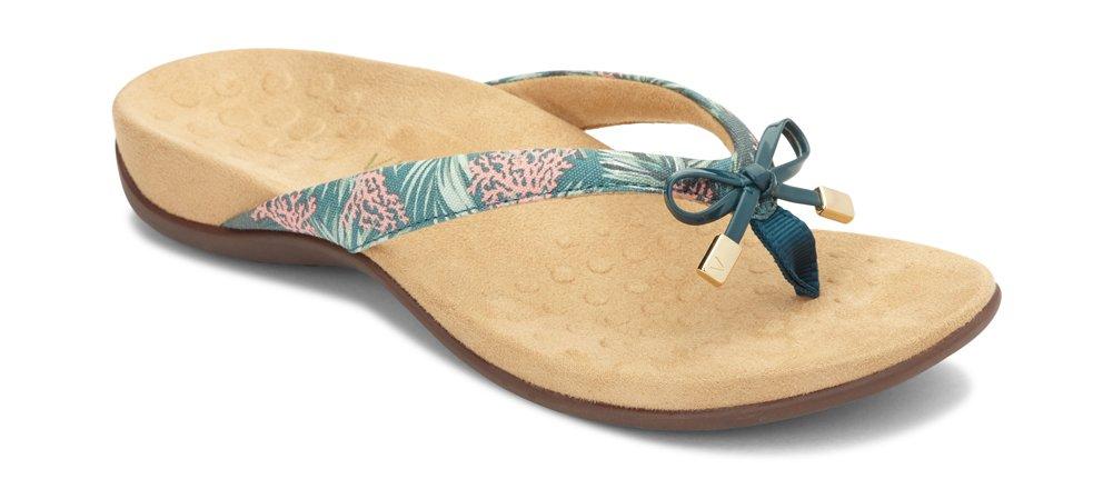 Vionic Women's Rest BellaII Toepost Sandal B079J2SVPF 9.5 B(M) US|Daintree Coral Prints