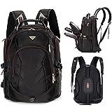 "Bonvince 18.4"" Laptop Backpack Fits Up To 18.4 Inch Gamer Laptops Backpack Black"