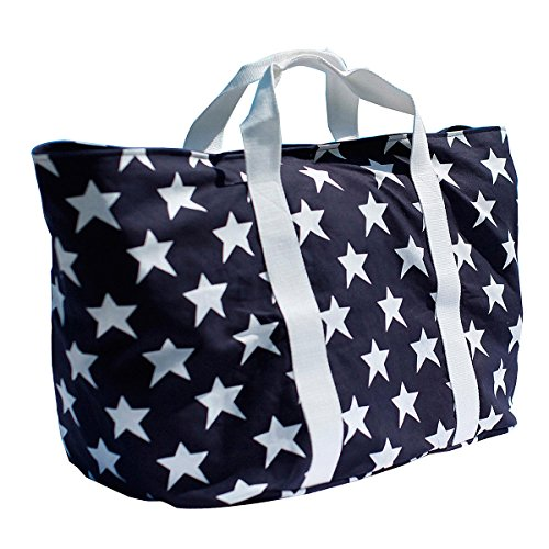 Large Removable Canvas Bag Pocket Zipper Bondi Inside Beach With amp; Blue SRaqRxf5w