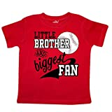 inktastic - Little Brother and Biggest Fan- Toddler T-Shirt 2T Red 2a7dc