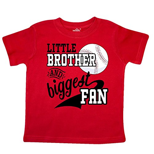 inktastic - Little Brother and Biggest Fan- Toddler T-Shirt 3T Red 2a7dc