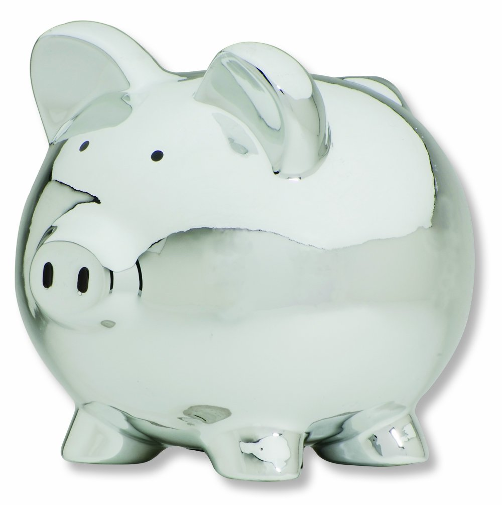 Amazon com carters smiley happy piggy bank silver toy banks baby