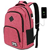 School Backpack for Teen Girls,College Backpack for Women,Water Resistant Laptop Backpack with USB Charging Port