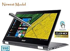 "Acer Spin 5 SP513-52N Touch 2-1 Laptop 8th Gen. Intel Quad Core i5 up to 3.4GHz 8GB 256GB SSD 13.3"" Full HD Fingerprint Reader Windows Ink HDMI Backlit Keyboard Webcam (Certified Refurbished)"