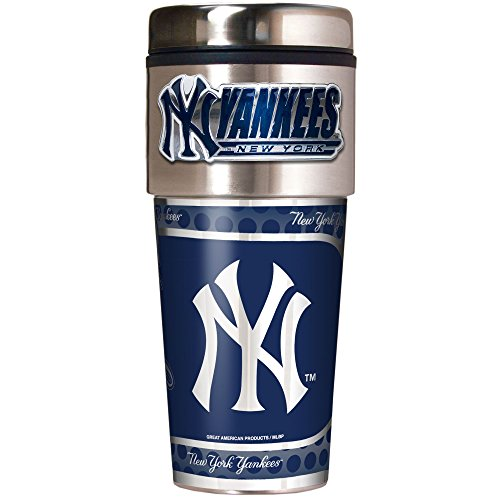 MLB New York Yankees Metallic Travel Tumbler,  16-Ounce
