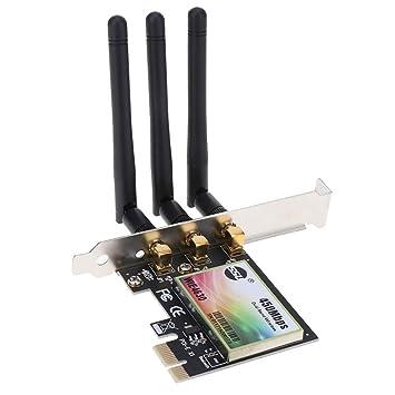 perfk Tarjeta De Adaptador De Red Inalámbrica PCIe WiFi De ...