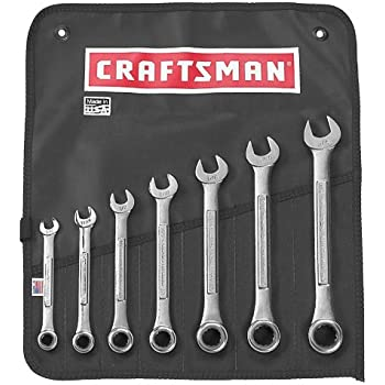 Craftsman Industrial 9-24623 7-Piece SAE Combination Ratcheting Wrench Set