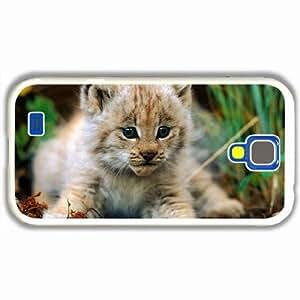 Customized Samsung Galaxy S4 S iv 9500 Hard Shell Cover Case Diy Personalized Designanimals lynx felines White