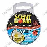 Scent Bomb Powerful Long Lasting Gel Disk Air Freshener (Hawaiian Blue)