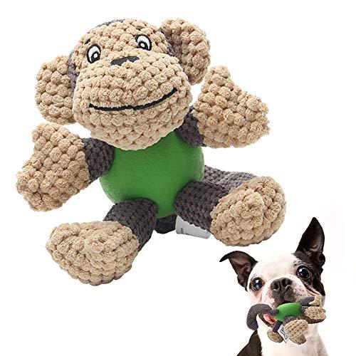 Hund Quietschende Kauen Spielzeug Hundespielzeug mit Quietscher und Gummiball für Kleine Medium Hund