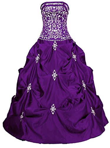 Snowskite Women's Long Formal Prom Ball Quinceanera Dress Party Gown Purple 22 by Snowskite