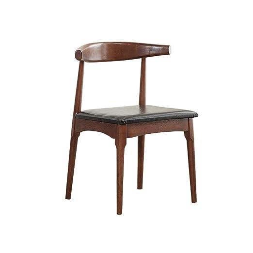 Cqq Sillas de bar Silla comedor moderno de madera maciza ...