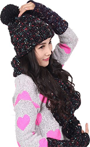 Winter Scarf Gloves Knitted Mitten product image