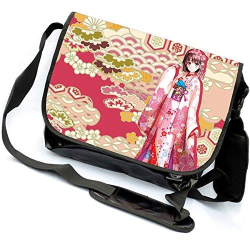 miraclel Anime Cosplay Canvas Rucksack Messenger Bag Umhängetasche schwarz Psycho-Pass 40cmx21cmx12cm Saenai Heroine no Sodatekata I6fvP