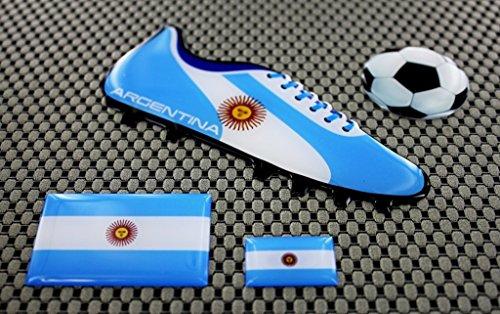Argentina World Cup Football Soccer Shoe 3d Decal Sticker Set Team 3d Cup