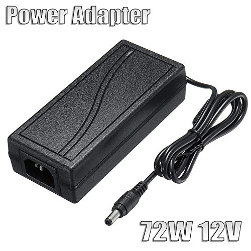 SMALL-CHIPINC - Black 72W 12V 6A AC/DC Power Supply Adapter 5.5x2.5mm For LED Light N1L4 CCC/CE Durable Quality from SMALL-CHIPINC