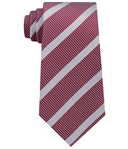 Sean John Mens Micro Houndstooth Self-tied Necktie Red One Size