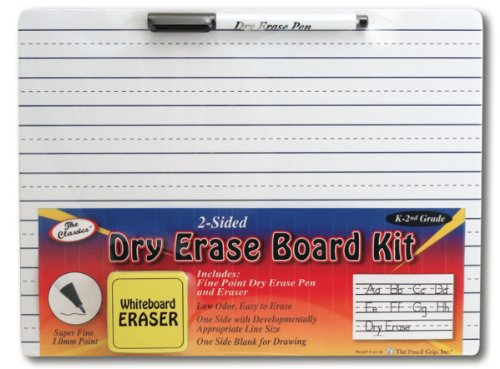 The Classics Dry Erase Whiteboard Kit Complete Set with 11.75 x 9 Inches Board, Black Dry Erase Pen and Eraser (TPG-388) by The Classics