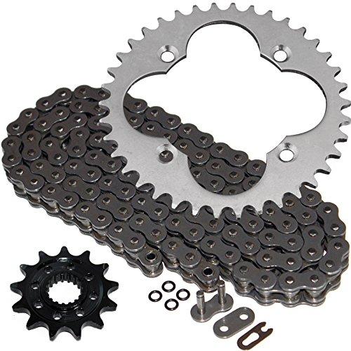 Steel Sprocket Kit - Caltric Steel O-Ring Drive Chain & Sprockets Kit Fits HONDA 450ER TRX450ER TRX-450ER 2006-2014