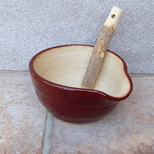 Pestle And Mortar Spice Herb Grinder Stoneware Hand Thrown Pottery Handmade wheelthrown ceramic