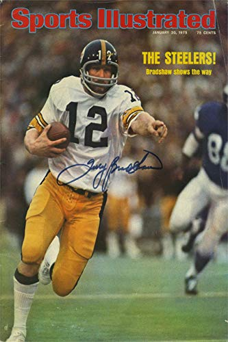 Bradshaw Autographs - Terry Bradshaw Sports Illustrated Autograph Replica Super Print - Super Bowl - 1/20/1975 - Unframed