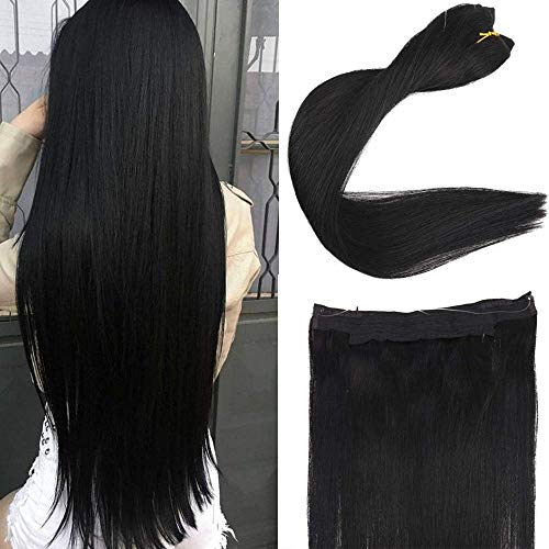 You Shine Crown on Hair Crown Extensions 20 inch Jet Black No Glue Remy Human Hair Extensions 100 Gram Fish Line Hair Extensions (Types Of Human Hair And Their Prices)