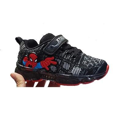c3486d41f9264 Amazon.com | ROKIDS LED Light Spiderman Shoes Boys Girls | Sneakers