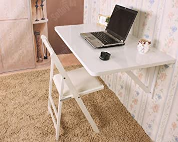 Haotian Large Size Wall Mounted Drop Leaf Table, Folding Kitchen Dining  Table Working