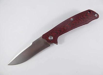 Amazon.com: TTK Cuchillo de bolsillo plegable, acero D2 con ...
