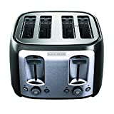BLACK+DECKER TR1478BD 4-Slice Toaster, Bagel Toaster, Black (Kitchen)