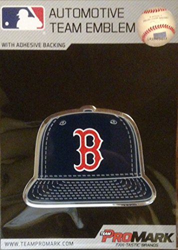 ProMark Boston Red Sox Spec Edition Ball Cap Raised Color Chrome Auto Emblem Home Decal ()