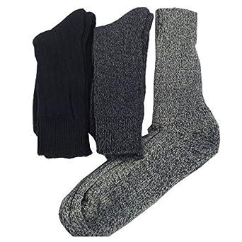 Amazon.com: 3 pares Mens lana mezcla Cojín Sole calcetines ...