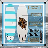 6' Beginner Foam Surfboard - Soft Top Surfboard