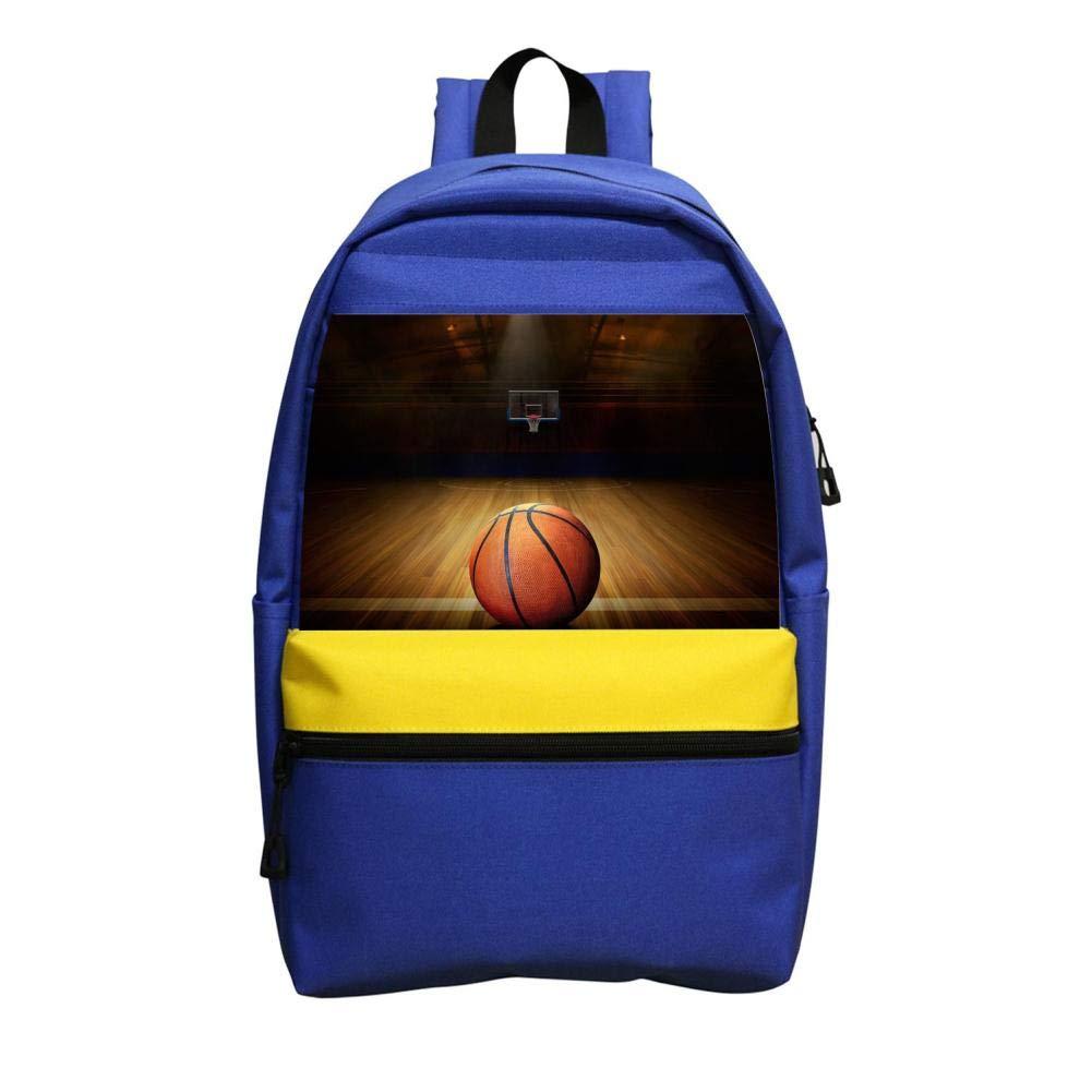 バスケットボールコート3Dプリントバックパック カレッジショルダーサッチトラベルバッグ カジュアル 学校 ビジネス 旅行 デイパック 子供用 大人用 B07G56RPLF