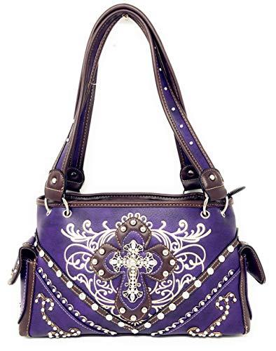 qualité à brodé à l'occidental avec haute strass couleurs à main main de Purple brodé en Sac multiples en sac FxIq0Oxd