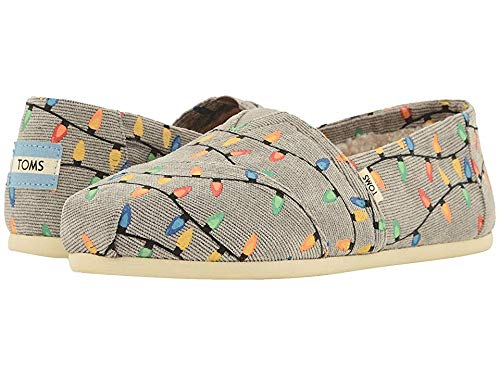 TOMS Women's Alpargata Grey Cord/Tree Lights 8 B US