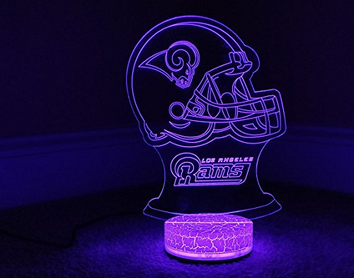 (Los Angeles Rams 3D LED Night Light 7 Color)