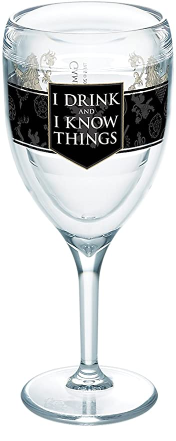 6b049e645f6 Amazon.com | Tervis 1265635 HBO Game of Thrones - House Lannister Insulated  Travel Tumbler with Wrap, 9 oz Wine Glass - Tritan, Clear: Tumblers & Water  ...