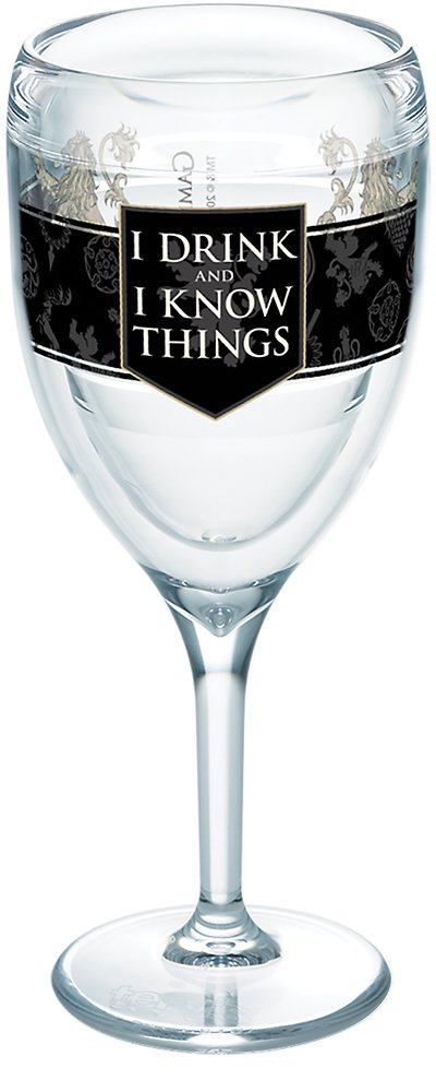 Tervis 1265635 Game of Thrones - House Lannister Tumbler with Wrap 9oz Wine Glass, Clear