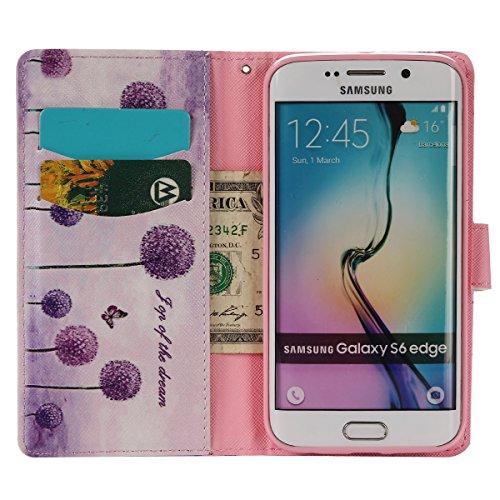 aeeque se, iPhone 5/5S/5C/6/6S (Plus), Samsung Galaxy S3/S4/S5/S6/S6Edge/S6Edge Plus/J5/Note 5/S7/S7edge/G360/G530/i9060, Sony Xperia M4/Z5/Z5mini, Huawei P8Lite elegante dibujo pintura patrón f Purple Dandelions