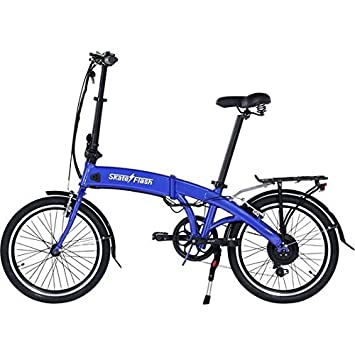 SKATEFLASH E-Bike Pro Plegable (Azul)