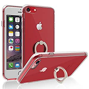 iPhone 7 Plus Case, IFCASE Crystal Clear Scratch Resistant Backplate Shock Absorption Bumper Case for iPhone 7 Plus with Ring Holder Kickstand