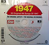 1947 BIRTHDAY GIFT - 1947 Chart Hits CD and 1947 Birthday Card
