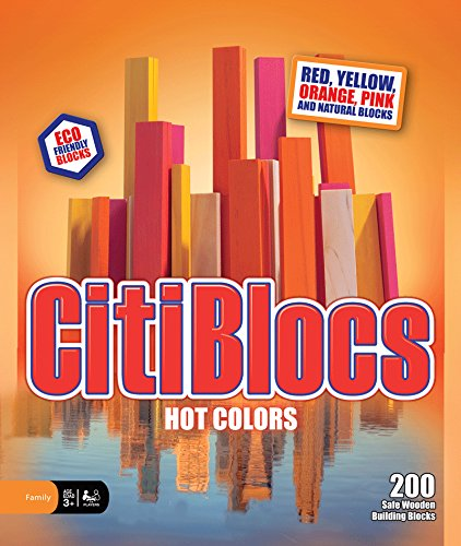 200 Piece Building Block (CitiBlocs 200-Piece Hot-Colored Building Blocks)