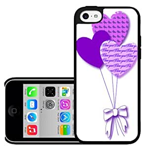Valentines Purple Heart Ballons Hard Snap on Phone Case (iPhone 5c)