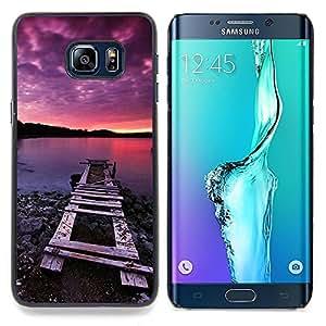 Jordan Colourful Shop - Nature Pink Dock Sea For Samsung Galaxy S6 Edge Plus - < Personalizado negro cubierta de la caja de pl??stico > -