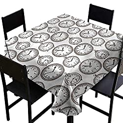haommhome Stain-Resistant Tablecloth Clock Pocket Wath with Number and Durable W50 xL50 for Kitchen Dinning Tabletop Decoration
