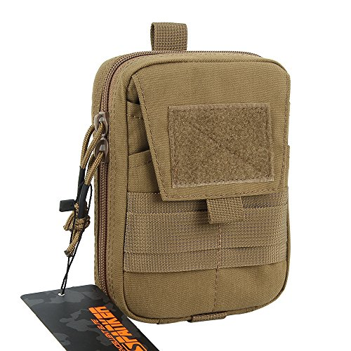 EXCELLENT ELITE SPANKER Molle Admin Pouch Military Utility Tool Pouch EDC Molle Pouchs Gadget Waist Bags(Coyote Brown)