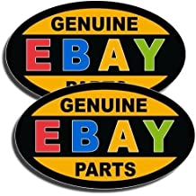 "Set of 2. 3""x5"" IN. GENUINE EBAY PARTS Stickers, Decal. Can Be Applied to any Smooth and Clean Surface: Windows, Walls, Car Body, Car Bumpers, Laptops, Folders, etc. Buy - Edwin Group."